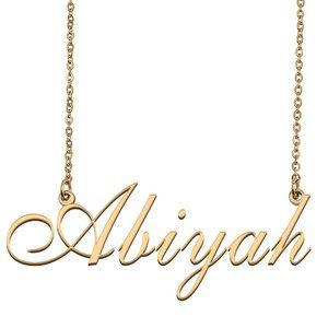 Custom Personalized Abiyah Name Necklace